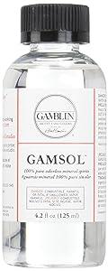 Gamblin Gamsol Odorless Mineral Spirits Bottle, 4.2oz
