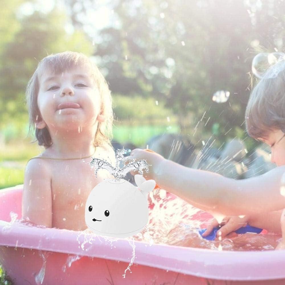 Sue-Supply Bambola da Bagno Giocattolo per Balena Ad Acqua Ad Induzione Elettrica Durevole per Palla A Spruzzo dAcqua per Bambini
