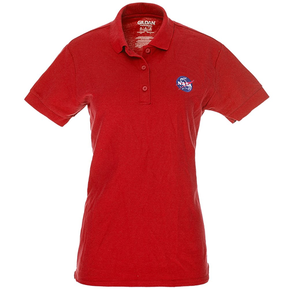 Ladies NASA Insignia Embroidered 100% Cotton Polo Shirt - S to 3XL