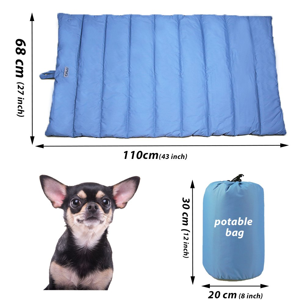 Portable Waterproof Soft Dog Mat for Dog Bed Couch Cushions Indoor or Outdoor Dog Blanket Blue Large by furrybaby (Image #5)