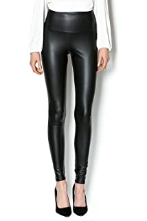 Ts women sexy fashion liquid stretchy high waist faux leather leggings