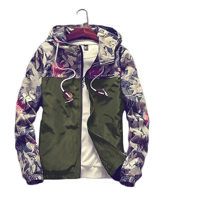 Amazon.com: Chaqueta de camuflaje con capucha para hombre ...
