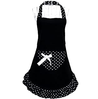 Hot Cute Funny Lovely Flirty Women Cupcake Aprons With Pocket For Ladies  Kitchen Restaurant Cafe Black Part 89