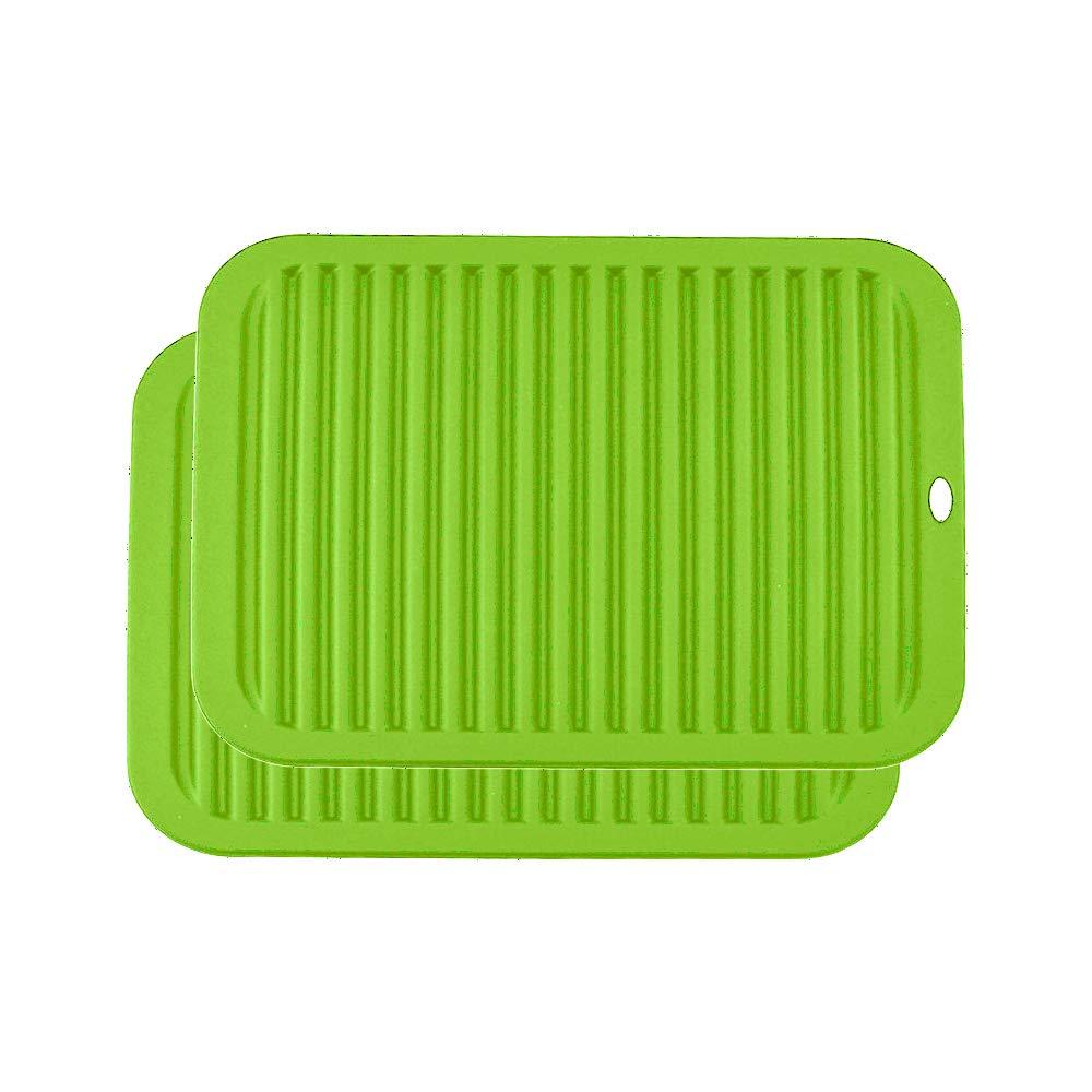 30x23x0.6 Dessous de Plat de Cuisine R/ésistant /à la Chaleur et Antid/érapants 1xBleu YOFASEN Bleu Dessous de Plat Silicone
