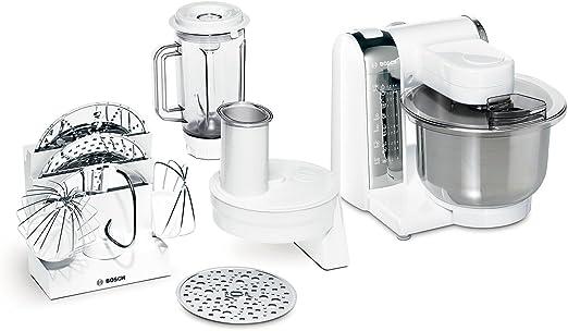 Bosch MUM48CR1 - Robot de cocina, blanco, acero inoxidable: Amazon ...