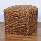 International Caravan SG-3350-IC Furniture Piece Square Twisted Arizona Ottoman