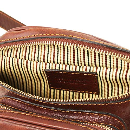 In Marsupio Pelle Leather Miele Nero Tuscany xqAU6cBx