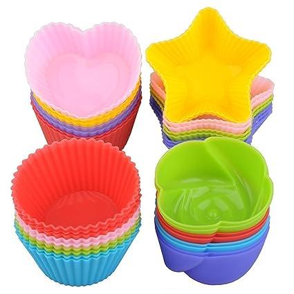 Cupcake Liners De Pasteles Para Hornear Molde De Silicona 24
