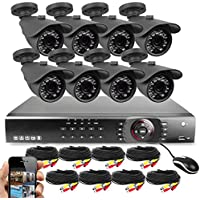 Best Vision 16-Channel HD DVR Security System with 8 1MP IR Outdoor Weatherproof Bullet Cameras, 1TB Hard Drive and Remote Surveillance