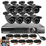Best Vision 16-Channel HD DVR Security System with 8 1MP IR Outdoor...