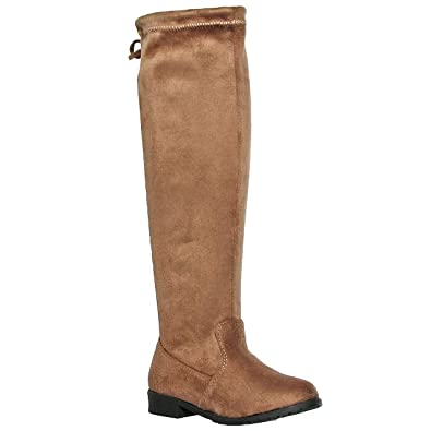 e55196fca77 shoewhatever Girl s Suede Thigh High Boots(9