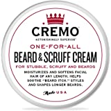Cremo Beard & Scruff Cream, Astonishingly Superior, Best for all Lengths of Facial Hair, 4 Ounce Can
