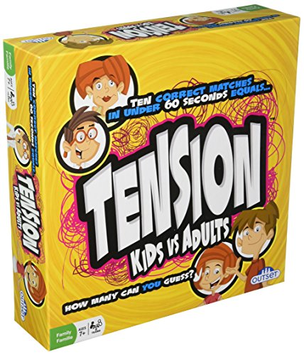 Tension Family Edition Board Game - Fast Paced Guessing Game Of Subjects And Categories - Kids vs. Adults Version Features 200 Cards (Ages 7+)
