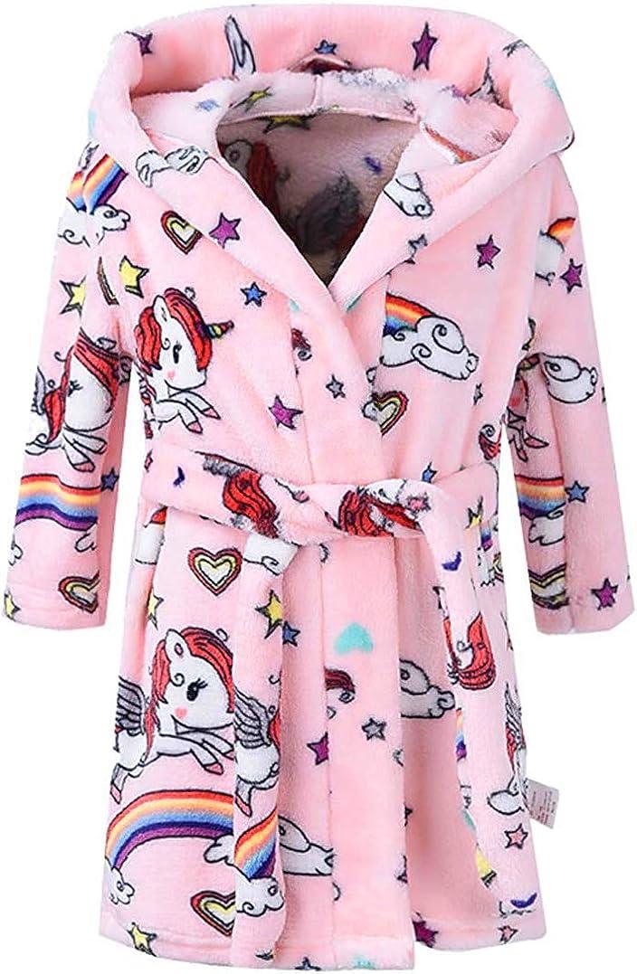 Amazon.com: Kids Bathrobes for Girls Boys Baby Toddler Robe Hooded Bathrobe  Pajamas Sleepwear for Girls Boys: Clothing