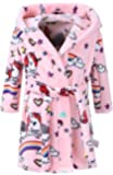 Kids Bathrobes for Girls Boys,Baby Toddler Robe Hooded Flannel Bathrobe Pajamas Sleepwear for Girls Boys