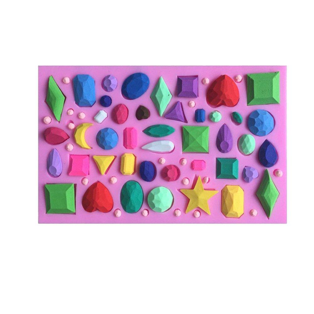 Mini diamants Bijou Pierre pr/écieuse Forme Fondant Moules /à g/âteaux Moule /à chocolat Cuisine Cuisson outils
