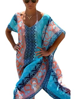 fbbf6e9bca Bsubseach Women's Swimwear Turkish Kaftans Swimsuit Cover up Caftan Beach  Long Dress
