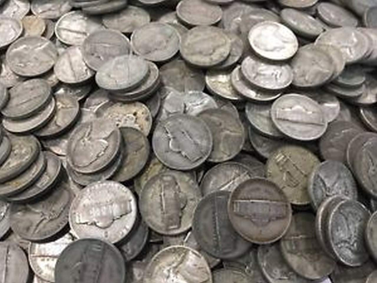 1942-1945 35/% Silver War Nickels $1 Face Value Avg Circ Nickel Very Good