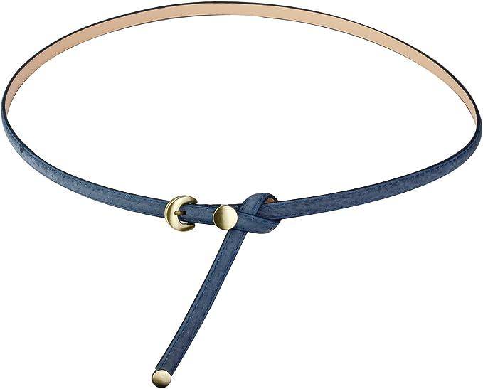 Audixius - Cinturón fino y exquisito de alta calidad con hebilla de metal