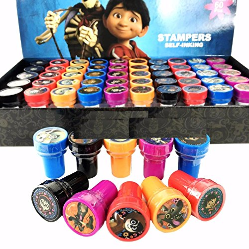 Disney Coco Self-inking Stamps Stampers Pencil Topper Authentic Disney Licensed-60 PCS for $<!--Too low to display-->