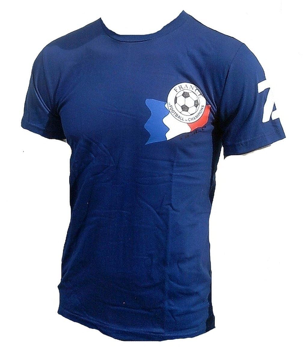 TICILA Camiseta para hombre Maitre Football Equipe Tricolore Francia France Fútbol WM EM Designer Fan Tee Camiseta Azul: Amazon.es: Ropa y accesorios
