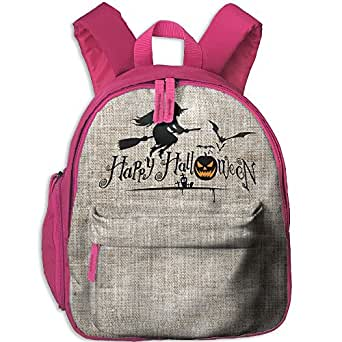 Unisex Baby Kid Happy Halloween Pre School Shoulder School Bag Pink