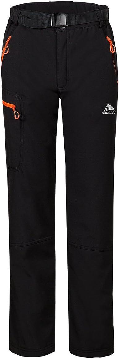 CIKRILAN Hombre Pantalones Softshell Fleece Lined A Prueba de ...