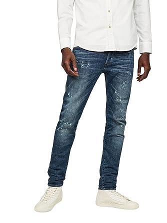 bd12b9e8bb4 G-Star Raw Men's 3301 Slim Medium Aged Restored Denim Jean, 36W x 32L