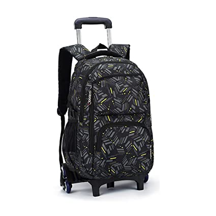 eb3910aee5aa Asdomo Rolling Laptop Backpack Luggage Wheeled Backpack Trolley School Bags  with Six Wheels for Boys Girls Kids Teenagers Students Schooling Travel  ...