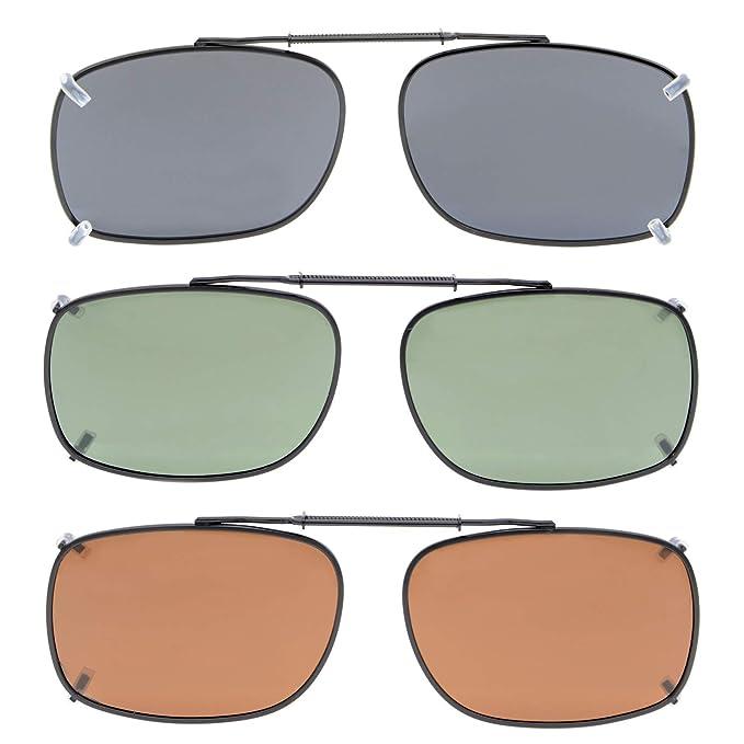 dd97b7b18ea Amazon.com  Eyekepper Grey Brown G15 Lens 3-pack Clip-on Polarized  Sunglasses 2 3 16