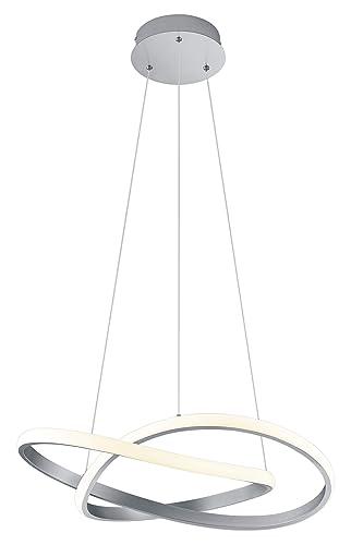 Reality Leuchten R32051107 Course - Lámpara de techo colgante (metal y acrílico blanco, incluye 27 LED de 10 W, regulador de intensidad)
