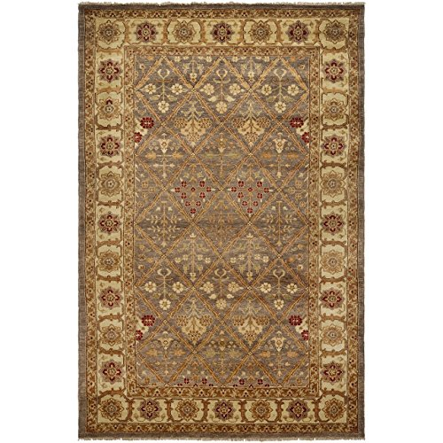 Safavieh Samarkand Collection SR814A Hand-Knotted Light Green and Ivory Wool Area Rug (9' x 12') - Samarkand Collection