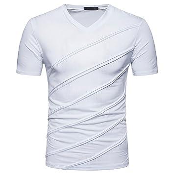 Amlaiworld Camisas hombre Camisas Hombre Verano Manga Corta Personalidad  Slim Fit Casual Blusa Deportivas niños Tees Tops  Amazon.es  Deportes y  aire libre 39e39e8ae2a21
