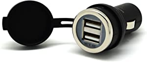 Cliff-Top 3.3 Amp Ultra Fast USB Car Charger (Auto Shunt) for Auto, Truck, Motorcycle, and Marine - Made in Taiwan (Black)