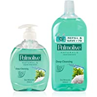 Palmolive Naturals Hand Wash Sea Mineral - 250 ml Pump with Palmolive Naturals Hand Wash Sea Mineral - 500 ml (Refill Pack)