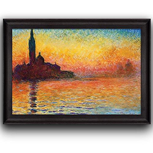 San Giorgio Maggiore at Dusk by Claude Monet Framed Art