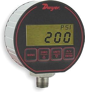 Dwyer Digital Pressure Gage, DPG-205, 0-100 psig, 3-in-1: Gage, Transmitter & Switch