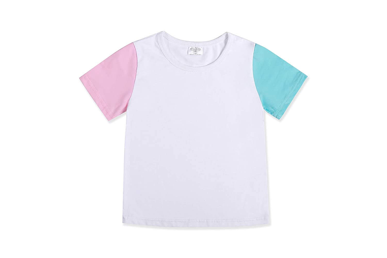CREATOR Toddler Baby Girls Boys Short Sleeve Shirts Raglan Shirt Baseball Tee Cotton T-Shirt