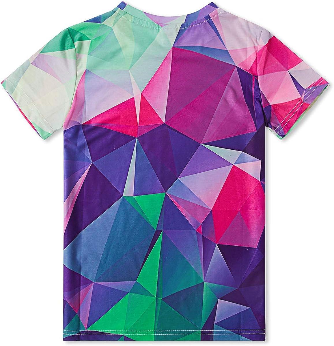 RAISEVERN Divertido Unisex Ni/ños Impresiones en 3D Camisetas Casual Tops Camisetas Manga Corta Fresca para los Muchachos Adolescentes 6-16T