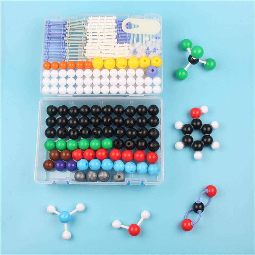 Molecular Model Kit Biochemistry,Farway 266Pcs Molecular Molecules Model Kit General & Organic Chemistry Atom Bonds Science Toy Student Set