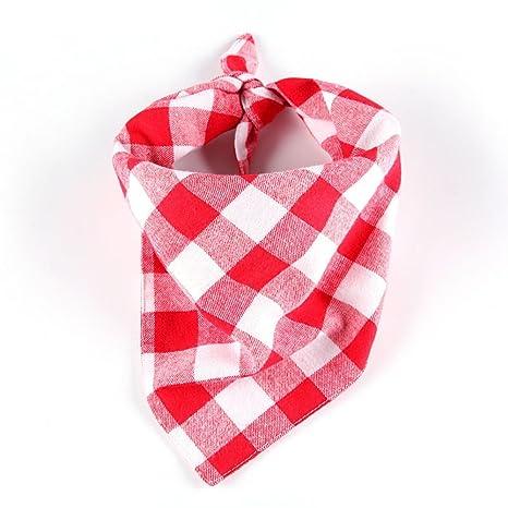 Lamzoom Pañuelo de Cuello para Gatos/Perros, pañuelo Triangular, Toallas Bibcombo