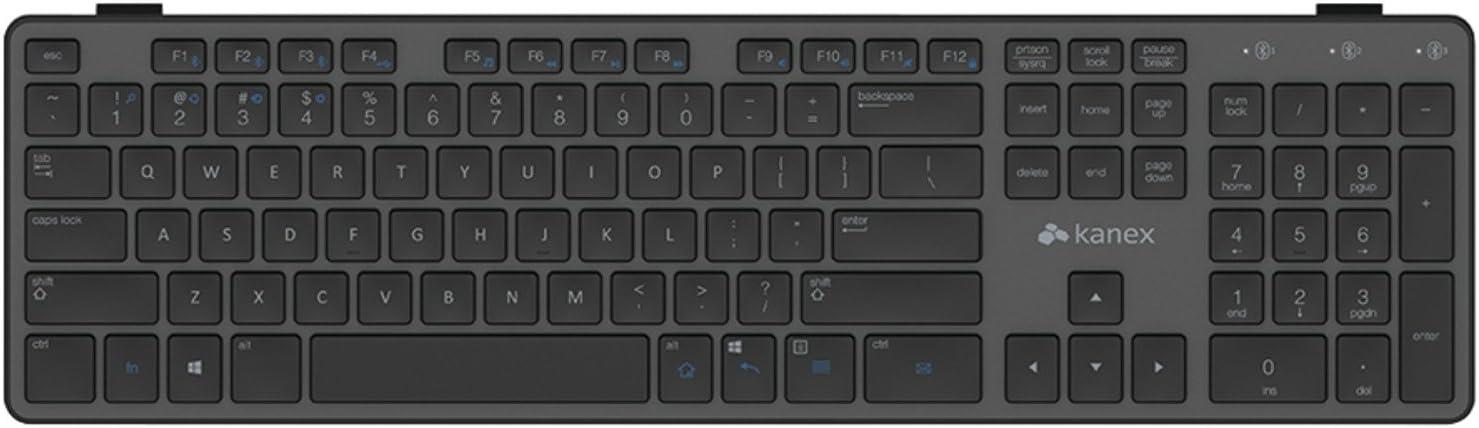 Kanex KBK01 Bluetooth/Micro-USB Negro teclado para móvil - Teclados para móviles (Negro, Estándar, Universal, Android 4.1, Android 4.2, Android 4.3, ...
