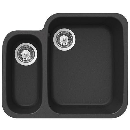 black undermount kitchen sinks. Schock Solido N 150 1 5 Bowl Granite Onyx Black Undermount Kitchen Sink  Waste