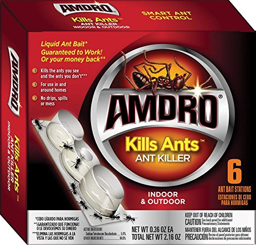 Amdro Ant Block - Amdro Kills Ants Liquid Ant Bait Stations 6 Pack