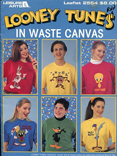 Leisure Arts 2564 Looney Tunes in Waste Canvas Cross Stitch Patterns