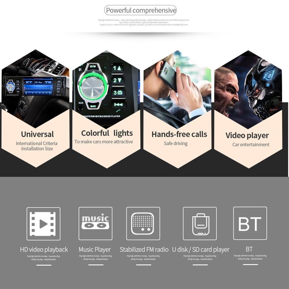 prettygood7 12V 4 1in LCD Screen Bluetooth Car MP5 Media Player FM