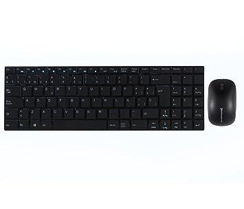 Phoenix PHKEYULTRASLIMBSP - Pack de teclado y ratón inalámbricos, color negro: Phoenix-Technologies: Amazon.es: Informática