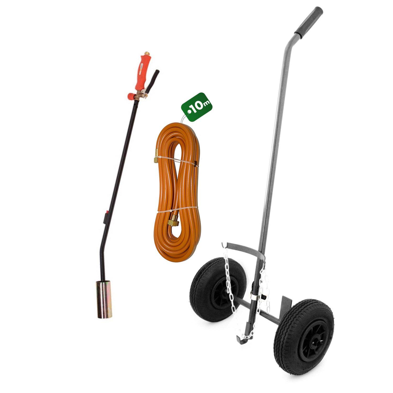 Kit Desherbador térmico con Piézo - + carrito ruedas hinchables + ...