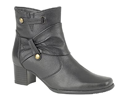 090c6496f954 MOD COMFYS WOMEN S LEATHER ZIPPED ANKLE BOOT L335AZ  Amazon.co.uk ...