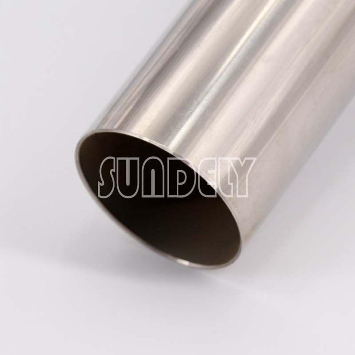 SUNDELY/® 4.5 Universal Round Tip Exhaust Muffler insert Removable Silencer Stainless
